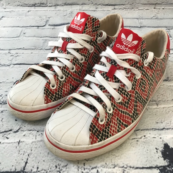 Adidas Sneaker Snake Red Pattern Rare 3 Stripes 8